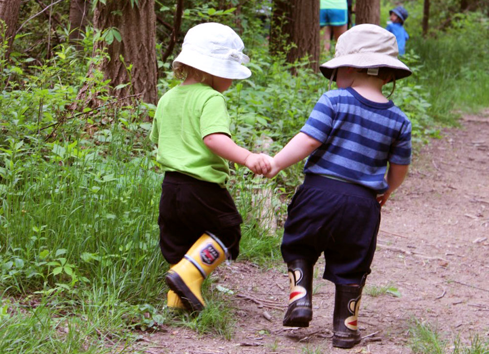 Hershey Toddlers enjoying a nature walk