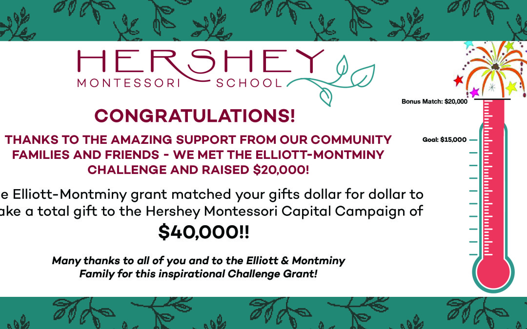 Hershey Montessori education is growing!