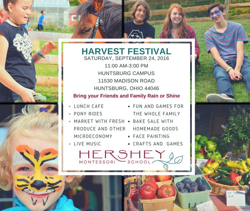 2016 Harvest Festival at Hershey Montessori School's Huntsburg Campus