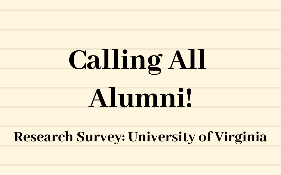 Alumni Survey: University of Virginia Research