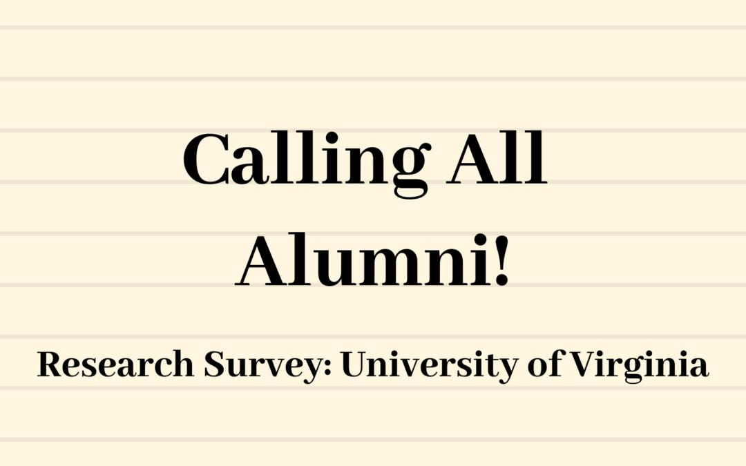 Alumni Survey: University of Virginia Research