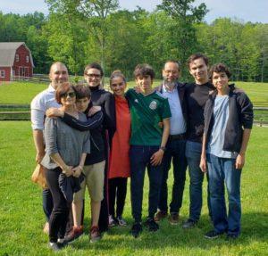 Montessori boarding family from Mexico visiting our Ohio boarding school